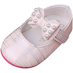 Baby Babyschuhe, ALIKEEY Kleinkind Mädchen Baby Prinzessinnen Schuhe Bogen Weichen Streifen Perlen Sandalen Turnschuhe Junge Mädchen Kleinkind 0-6 Monate 6-12 Monate