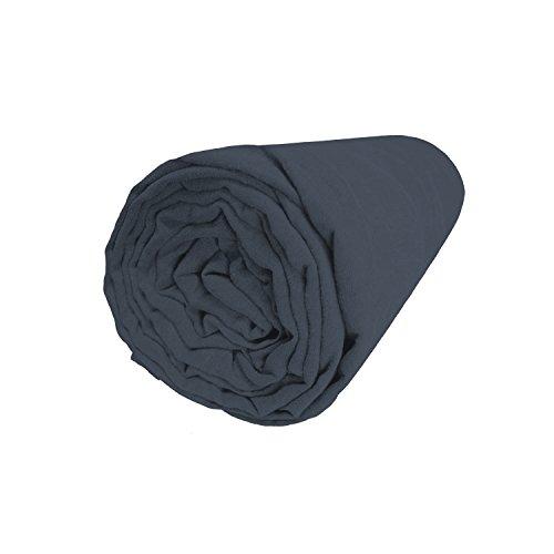 BLANC CERISE Drap Housse en Lin lavé véritable 180x200 cm