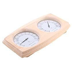 Blesiya Large Decorative Indoor / Outdoor Thermometer and Hygrometer for Sauna House