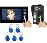 Love Life Visuelle Türklingel, Smart-Home-Kamera WiFi-Video-Gegensprechanlage Türklingel, Fingerabdruck-Passwort Durchzug Türschloss Mobile APP-Gegensprechanlage Video,regularversion
