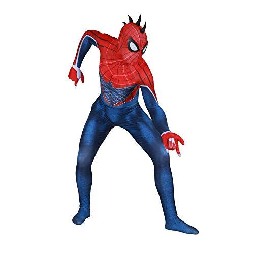 WEGCJU Spiderman-Kostüm Spiderman Strumpfhosen Spiderman-Anzug Zubehör Party Halloween Spiderman Spiderman-Rollenspiele Spiderman Overall Kostüm 3D ()