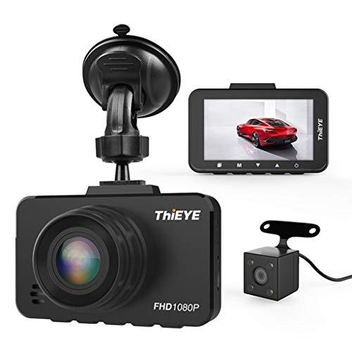 XHYA 1080P Full HD Auto Kamera DVR Dash Kamera 2,45 Zoll Auto Videoüberwachung Echt 1080P HDR Mit G-Sensor Rückfahrkamera Dash Cam