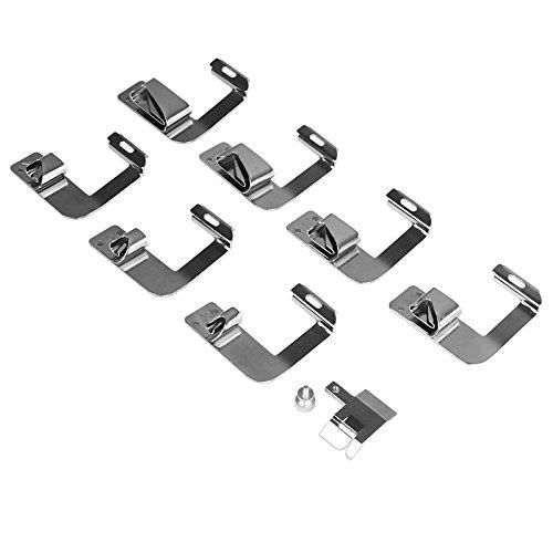 Kit de prensatelas para máquina de coser. Piezas de repuesto y accesorios para máquinas Brother o Singer. Conjunto de 8 piezas
