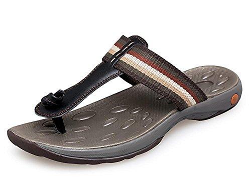 Herren Leder Flip - Flops Outdoor Freizeit 1