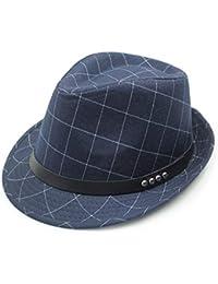 Sombrero De Sol para Hombre Estilo Británico Sombrero De Poliéster Algodón  Jazz A Especial Estilo Cuadros ec0ed8ee704