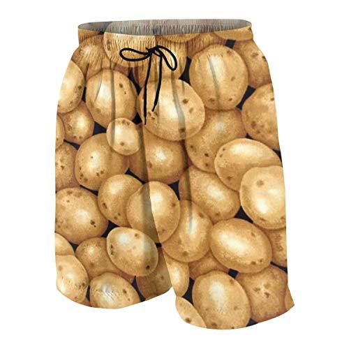 vcbndfcjnd Garden Potatoes Black Boys Beach Shorts Quick Dry Beach Swim Trunks Kids Swimsuit Beach Shorts,Boys' Assist Basketball Shorts XL