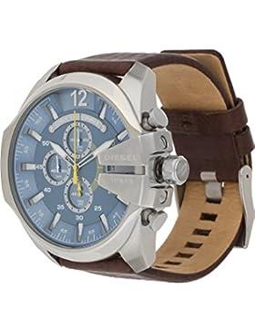 Diesel Herren-Armbanduhr Analog Quarz One Size, blau, braun