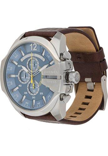 Diesel Herren-Armbanduhr Analog Quarz One Size, blau, braun (Schwarze Diesel Uhren Männer)
