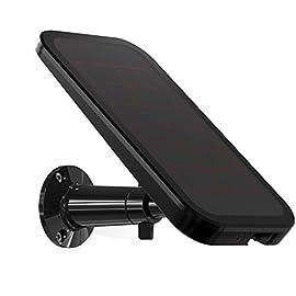 Arlo VMA4600 Pannello Solare per Alimentazione e Ricarica Continua, per le Videocamere Arlo Pro / Pro2 / Go, Nero