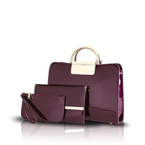 Sunas Il sacchetto di spalla della borsa della nuova borsa della signora 2017 adatta tre serie di raccoglitore della madre e della figlia viola
