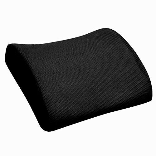 Almohada lumbar de parte posterior - TOOGOO(R)Almohada lumbar de parte posterior de asiento de silla para oficina coche y casa de color negro