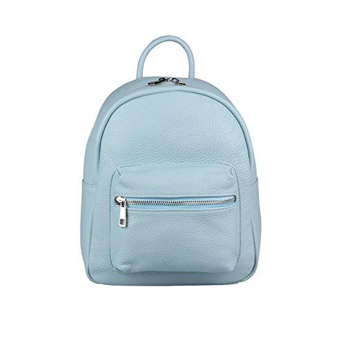 8e3e15775dfd1 Lederrucksack Himmelblau LEDER Handtasche Schultertasche Ledertasche Daypack  DAMEN Umhängetasche MADE Crossbag Hellblau Tasche OBC BackPack IN ITALY Echt  ...