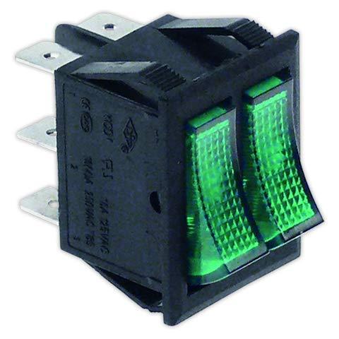 DOJA Industrial   Interruptor doble 22x30 mm I verde   Interruptores Con...