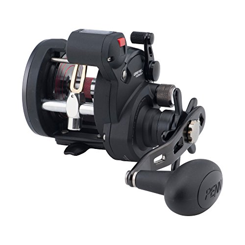 Penn Warfare Level Wind Reel, unisex, schwarz/rot