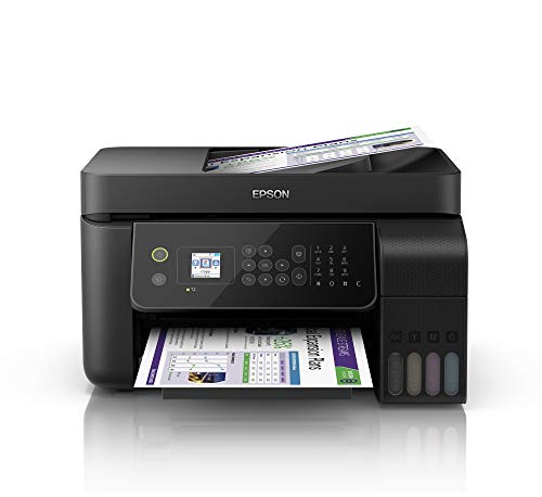 Epson EcoTank ET-4700 4-in-1 Tinten-Multifunktionsgerät (Kopierer, Scanner, Drucker, Fax, DIN A4, ADF, WiFi, Ethernet, Display, USB 2.0, großer Tintentank, hohe Reichweite, niedrige Seitenkosten) -