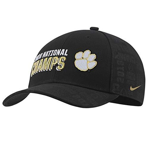 Clemson Tigers College Football Playoff 2018 National Champions Locker Room Verstellbarer Hut - Schwarz, Herren, Einheitsgröße -