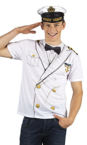 Boland 84261 Photorealistisches Shirt Captain, L (Halloween-t-shirt-kostüme)