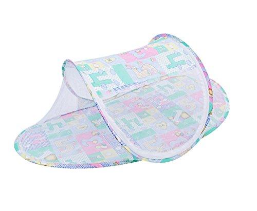Mosquito Net Baby plegable cuna de viaje con cremallera, Pop Up Tent, tienda portátil Sleeping para niños, Travel Kids Tent, Beach Tent, verano, NUEVO, verde