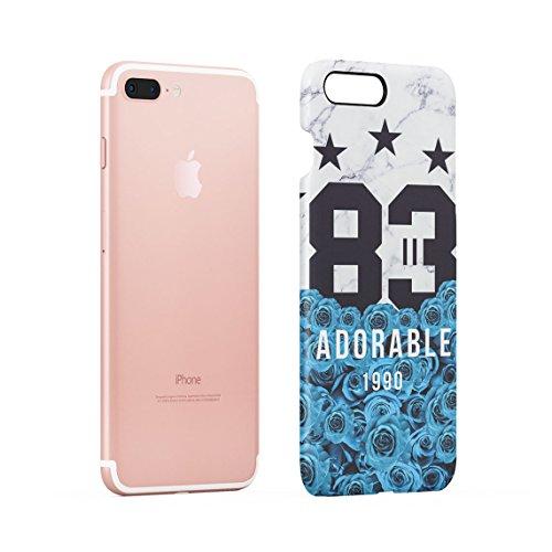 All We Have Have Is Now Pale Weiß & Rosa Wild Roses Tumblr Dünne Rückschale aus Hartplastik für iPhone 7 Plus & iPhone 8 Plus Handy Hülle Schutzhülle Slim Fit Case cover Adorable 83