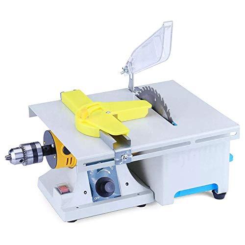 Kacsoo Machine de polissage de bijoux améliorée, Kit de scies à bijoux pour mini table , Tampon de banc de polisseur de roche pour le travail du bois en métal gemme avec accessoires complets