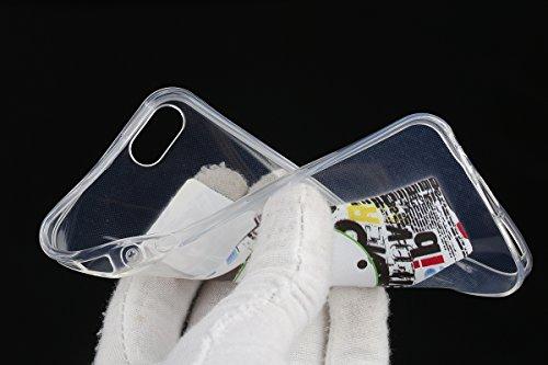 Coque Housse pour iPhone 6 Plus/6S Plus, iPhone 6S Plus Coque Clair Transparente Silicone Etui Housse, iPhone 6 Plus Souple Coque Ultra Mince Étui en Silicone, iPhone 6 Plus/6S Plus Silicone Transpare montres blanches