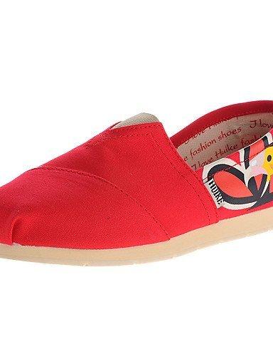 ShangYi gyht Scarpe Donna-Mocassini-Ufficio e lavoro / Casual-Comoda / Punta arrotondata-Piatto-Di corda-Giallo / Rosa / Rosso / Royal Blue Red