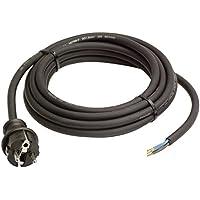 as - Schwabe 60376 Gummi-Anschlussleitung 3 m, schwarz, Kabel H05RN-F 3G1,0, 230 V