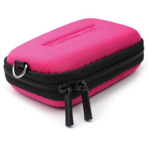 Schutz Hard Case Tasche Schutztasche für Digital Kamera Reißverschluss Cyan Neu
