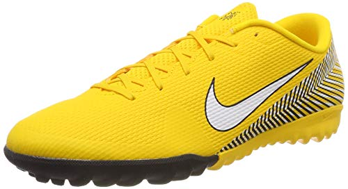 super popular b88c9 f8a06 Nike Unisex Adults' Vapor 12 Academy NJR Tf Fitness Shoes Multicolour  (Amarillo/White