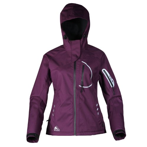 Cox Swain Damen 3-Lagen Outdoor Softshell Jacke Yuki - 15.000mm Wassersäule - 10.000mm atmungsaktiv, Colour: Purple, Size: M