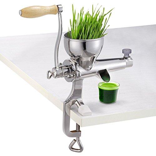 Miyan Manuelle Weizengraspresse aus Edelstahl, robust, Blattpresse, Grün