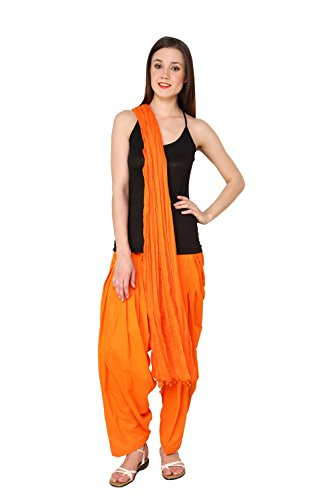 Pistaa Orange Full cotton Patiala Salwar With Dupatta