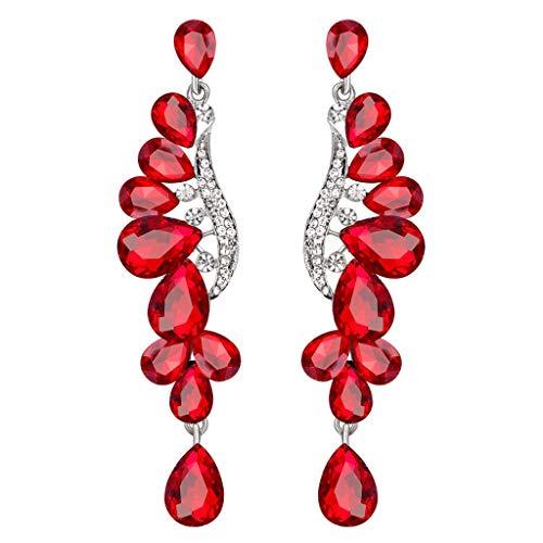Vezaron Damen-Ohrringe, Vintage-Design, luxuriöser Diamant-Ohrstecker, Damen, Temperament, Schmuck unter 5 Dollar rot