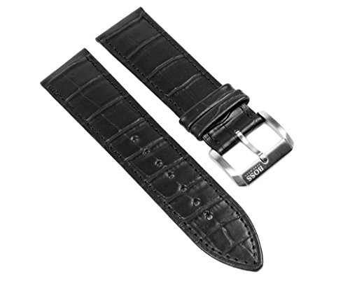 Hugo Boss Ersatzband Leder 23mm schwarz 1512030 HB.22.1.14.2008