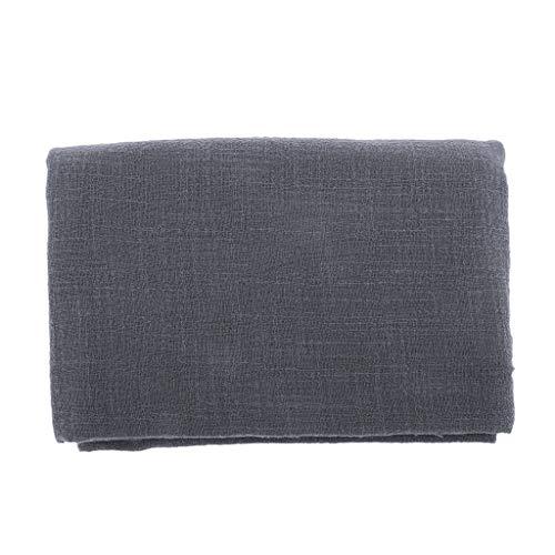 enstoff Leinen-Stoff zum Nähen und Dekorieren weich für Frühlings- und Sommerbekleidung - dunkel grau ()