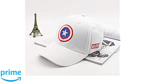 check out 65aeb 6daa7 Buy Others Captain America Superhero Baseball Sports Gorras Snapback  Polyester Unisex Cap (White) Online at Low Prices in India - Amazon.in