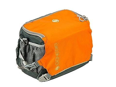 Genesis Lynx Kameratasche orange (Stativhalterung, Schnellzugriff, Regenhülle, Bauch- und Schultergurt)