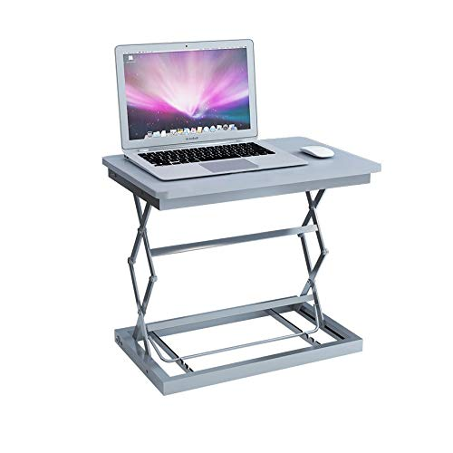 Laptop-anhebende Klammer, Anzeige, Die Regal-stehendes Büro-Werktisch-faltendes Laptop-Monitor-Standplatz-Weiß Erhöht (Größe: 50 * 37 * 9/35/42 / 48cm) (Color : B1) - Vier Einstellbare Feste Regal