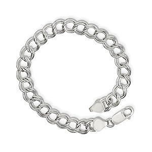 Sterling Silber 7,75mm Poliert Charme Armband–Länge Optionen: 151820