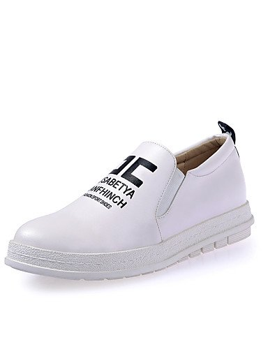 ZQ Scarpe Donna - Mocassini / Senza lacci - Tempo libero / Ufficio e lavoro / Casual - Plateau / Creepers - Plateau - Finta pelle -Nero / , red-us8 / eu39 / uk6 / cn39 , red-us8 / eu39 / uk6 / cn39 white-us6.5-7 / eu37 / uk4.5-5 / cn37