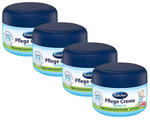 Bübchen Pflege Creme, sensitive Körper- und Gesichtscreme für zarte Babyhaut, mit Mandelöl, Menge: 1 x 75 ml