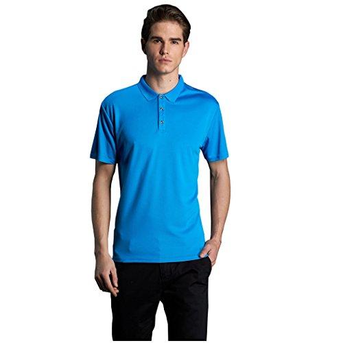 GAJOW Herren Poloshirt Blau