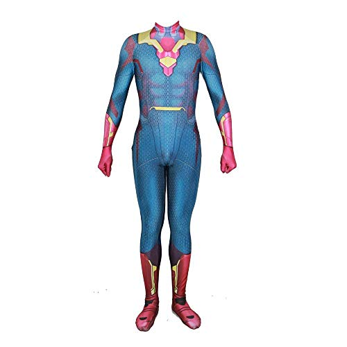 WSX US-amerikanischer Kapitäns-Body 3D-Druck Von Cosplay-Kostümen Für Erwachsene (Heißes Thema Weihnachten Kostüme)