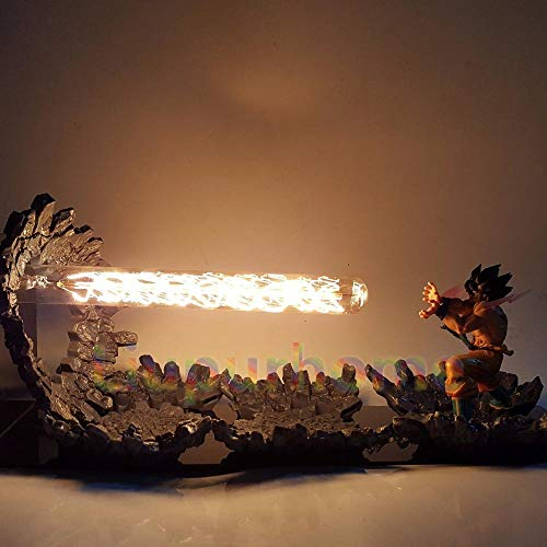 GYBYB Dragon Ball Z Son Goku Lámpara de Luz Led Ataque Anime Dragon Ball Z Goku Super Saiyan DBZ Luces de Noche Led
