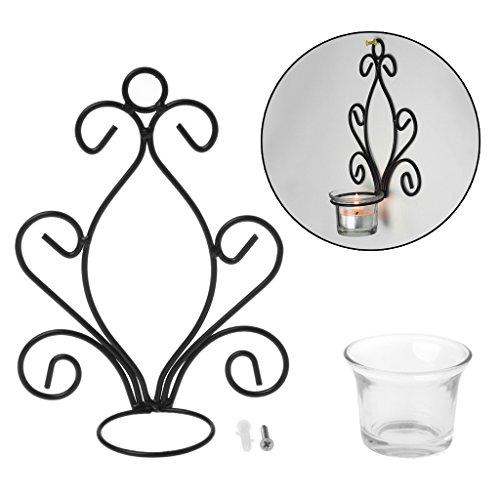 Hergon Einzigartiges Design von Eisen Kerzenhalter, Glaskerzenlicht, Weihnachten, Halloween, Dekoration (Charting-tools)