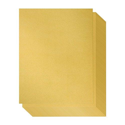 Gold Metallic Papier, doppelseitig, Laser Drucker freundlich-Perfekt für Hochzeiten, Baby Duschen, Geburtstage, Craft Verwenden, A4Größe Blatt, 21x 29,7Zentimeter ()