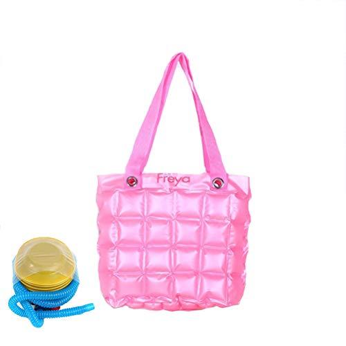 Wanforjewellery Damen-Wasserdichte aufblasbare Einkaufstasche, PVC-Strand-Taschen-Taschen,pink