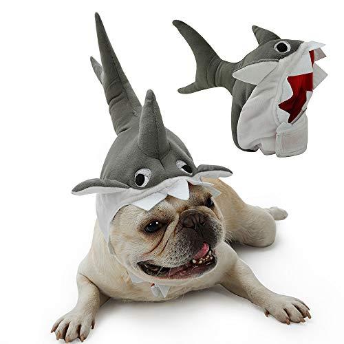 NIBESSER Hund Kostüm Kleidung Hund Hut Outfit Anzug Hai Design Weihnachtskostüme