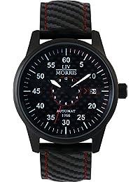 LIV MORRIS LIV MORRIS HANSE 1966 MÜNSTER 4260195920385 - Reloj para hombres, correa de cuero color negro