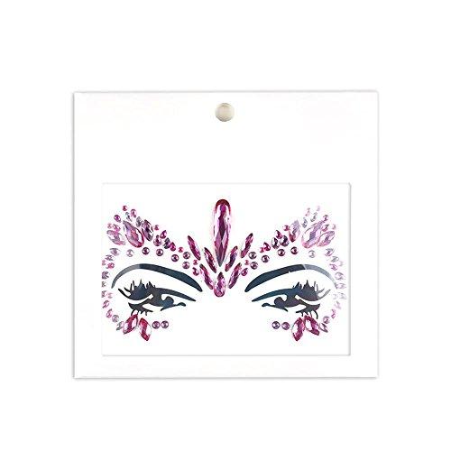 Wovemster Maskerade Gesicht Edelsteine Dekoration Schmuck Diamant Temporäre Tattoos Gesicht Aufkleber Glitter Strass Juwelen Face Stickerleichtes